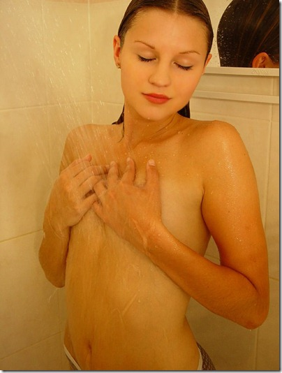 josie model shower scene